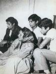 """el primo """"Baturro"""", Álex, Santiago Leonard y su abuela, de Jacques Leonard"""