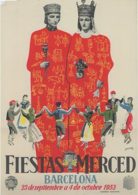 cartel festes mercè 1953
