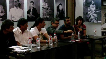 (de izq. a dcha) Jordi Serchs, Santiago y Álex Leonard, Jordi Martí, Yago Leonard y Sara de Lecea